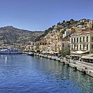 Symi Waterfront by Tom Gomez
