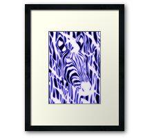 'Electric Zebra' (large logo) Framed Print