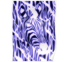 Electric Zebra (small logo) Poster