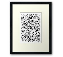Wild Patterns (Black and White) Framed Print