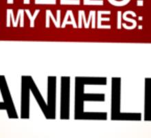 NAMETAG TEES - DANIELLE Sticker