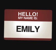 NAMETAG TEES - EMILY by webart