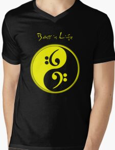Bass is Life Mens V-Neck T-Shirt