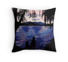Looking at the Lake Throw Pillow