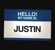 NAMETAG TEES - JUSTIN by webart