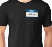 NAMETAG TEES - JUSTIN Unisex T-Shirt