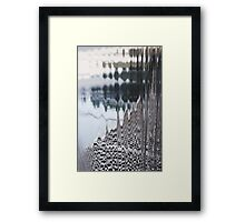 Through Cascading Water Framed Print