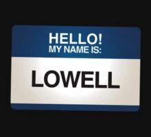 NAMETAG TEES - LOWELL by webart