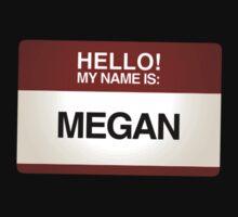 NAMETAG TEES - MEGAN by webart