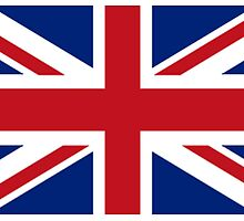 Union Jack, Flag of the United Kingdom, Britain, British flag, Pure & Simple by TOM HILL - Designer