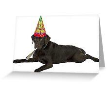 Chocolate Labrador Retriever Birthday Greeting Card