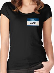 NAMETAG TEES - JACK Women's Fitted Scoop T-Shirt