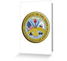 American Army, ARMY, ARMIES, USA, United States Army, Emblem of the United States, Department of the Army Greeting Card