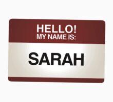 NAMETAG TEES - SARAH by webart