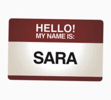 NAMETAG TEES - SARA by webart