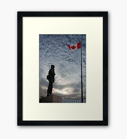 Canadian Soldier - Fallen Soldier Memorial, Ottawa ON Framed Print