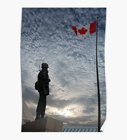 Canadian Soldier - Fallen Soldier Memorial, Ottawa ON Poster