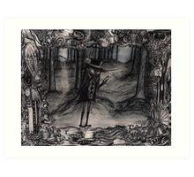 Mandagin in the Flabberghast forest Art Print