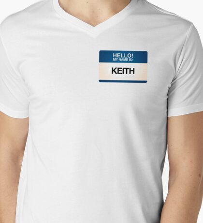 NAMETAG TEES - KEITH Mens V-Neck T-Shirt