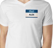 NAMETAG TEES - ALEX Mens V-Neck T-Shirt