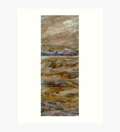 Rocky Forms - rocks & rock pools at Ballinskelligs Art Print