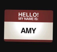 NAMETAG TEES - AMY by webart