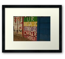 never too tiny Framed Print