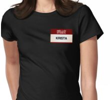 NAMETAG TEES - KRISTA Womens Fitted T-Shirt