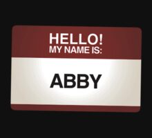 NAMETAG TEES - ABBY by webart