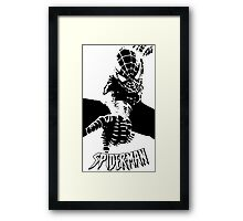 The Shadow Of Spiderman Framed Print