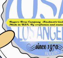usa california tshirt by rogers bros Sticker