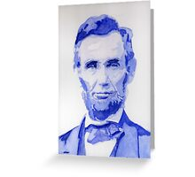 Abraham Lincoln - A posterized Portrait Greeting Card