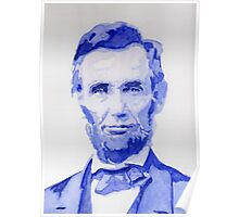 Abraham Lincoln - A posterized Portrait Poster