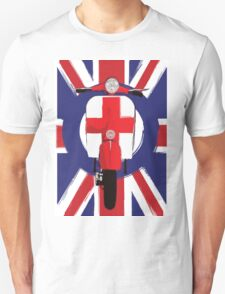 Vintage scooter with St George Cross Unisex T-Shirt