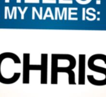 NAMETAG TEES - CHRIS Sticker