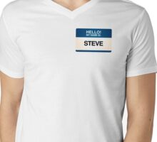 NAMETAG TEES - STEVE Mens V-Neck T-Shirt