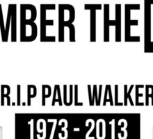 Remember the Buster - Fast and Furious decal Sticker