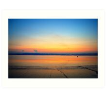 Sunset sky- landscape Art Print