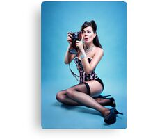 """Freeze"" Pin up Girl  Canvas Print"