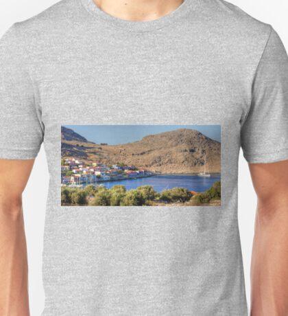 Superyacht in Nimborio Bay Unisex T-Shirt