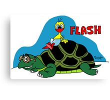 Rick the chick & Friends - Flash Canvas Print