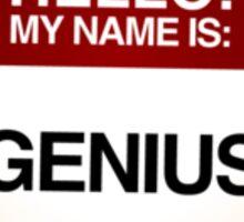 NAMETAG TEES - GENIUS RED Sticker