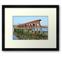 DECAY - OLD SHIPWRECK Framed Print