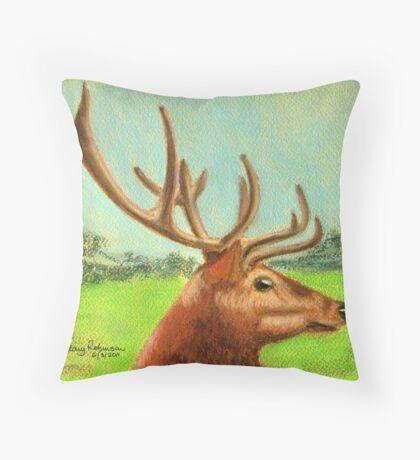 Dawn's stag Throw Pillow