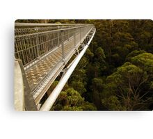Walking in the treetops Canvas Print