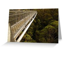 Walking in the treetops Greeting Card