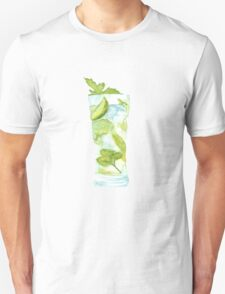 Mojito Watercolour Cocktail T-Shirt