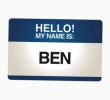 NAMETAG TEES - BEN by webart
