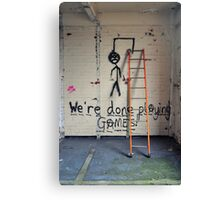 Message on a wall Canvas Print