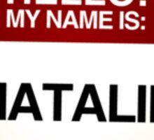 NAMETAG TEES - NATALIE Sticker